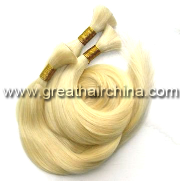 Malaysian Cuticle Remy Human Hair Blonde Color