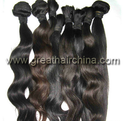 Indian Virgin Human Hair Natural Color Body Wave